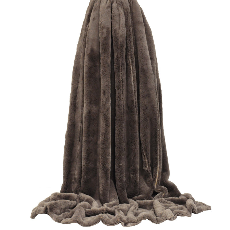 Taupe Plush Throw
