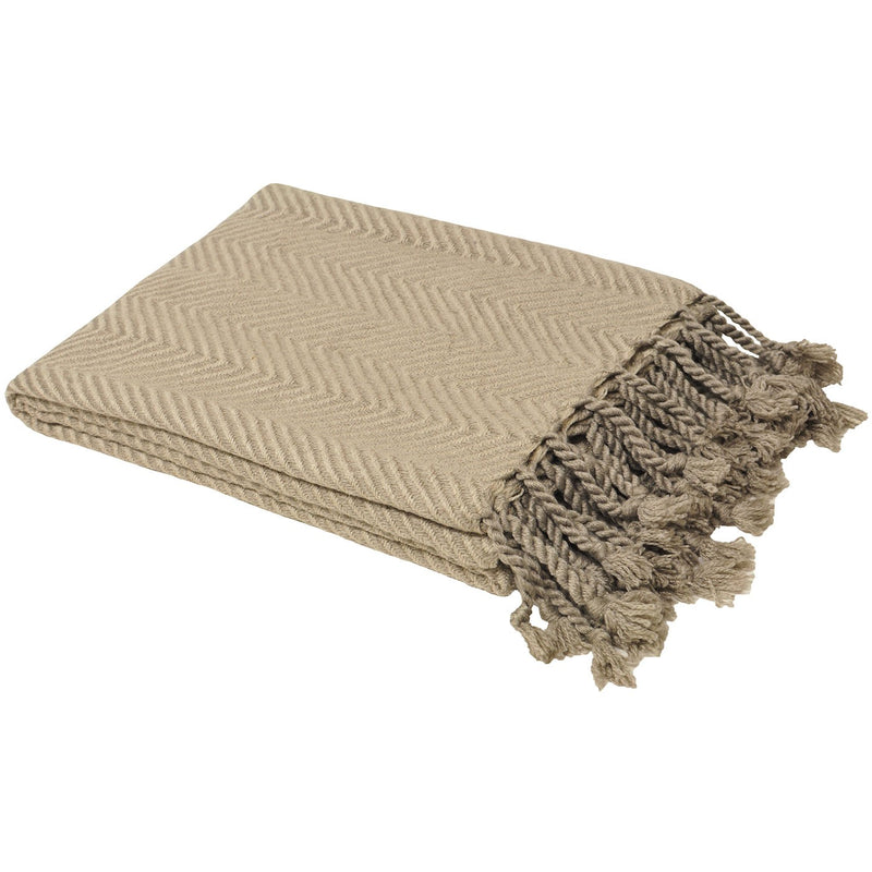 Taupe Zig-Zag Throw