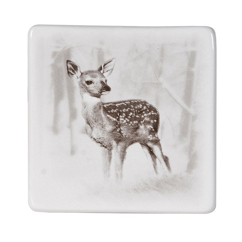 Set Of 4 Male And Female Deer Coasters