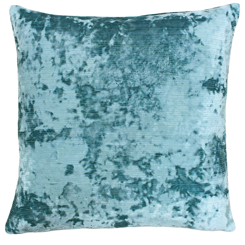 Teal Crushed Velvet Cushion Cover