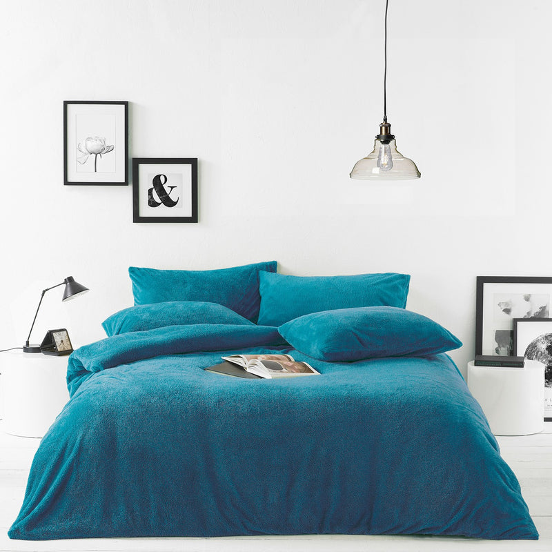 Teal Sherpa Duvet Set