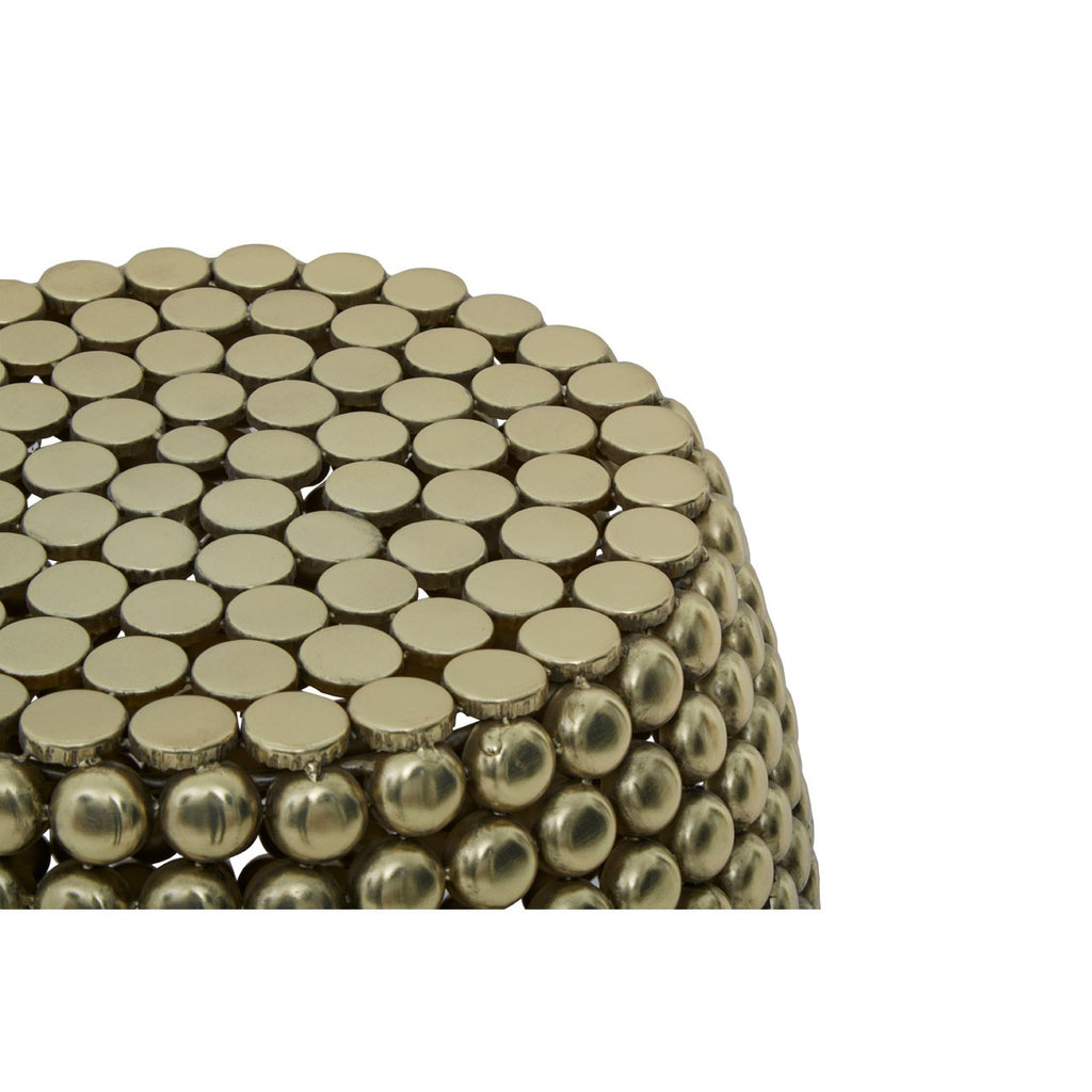 Gold Temple Beaded Stool