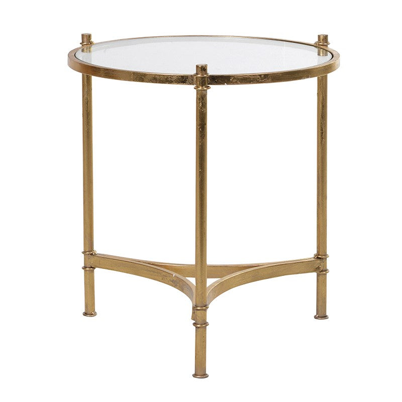 Sierra Gold Glass Side Table