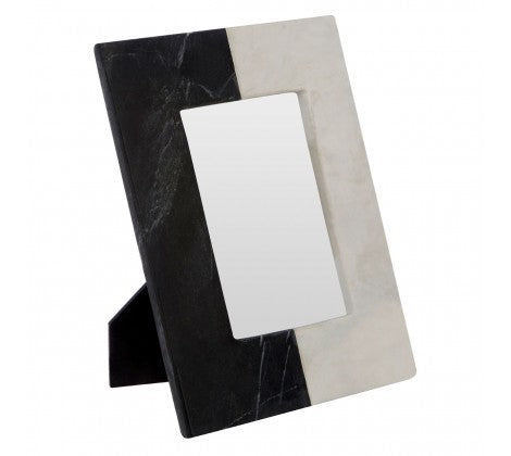 Small Two-Tone Marble Photo Frame