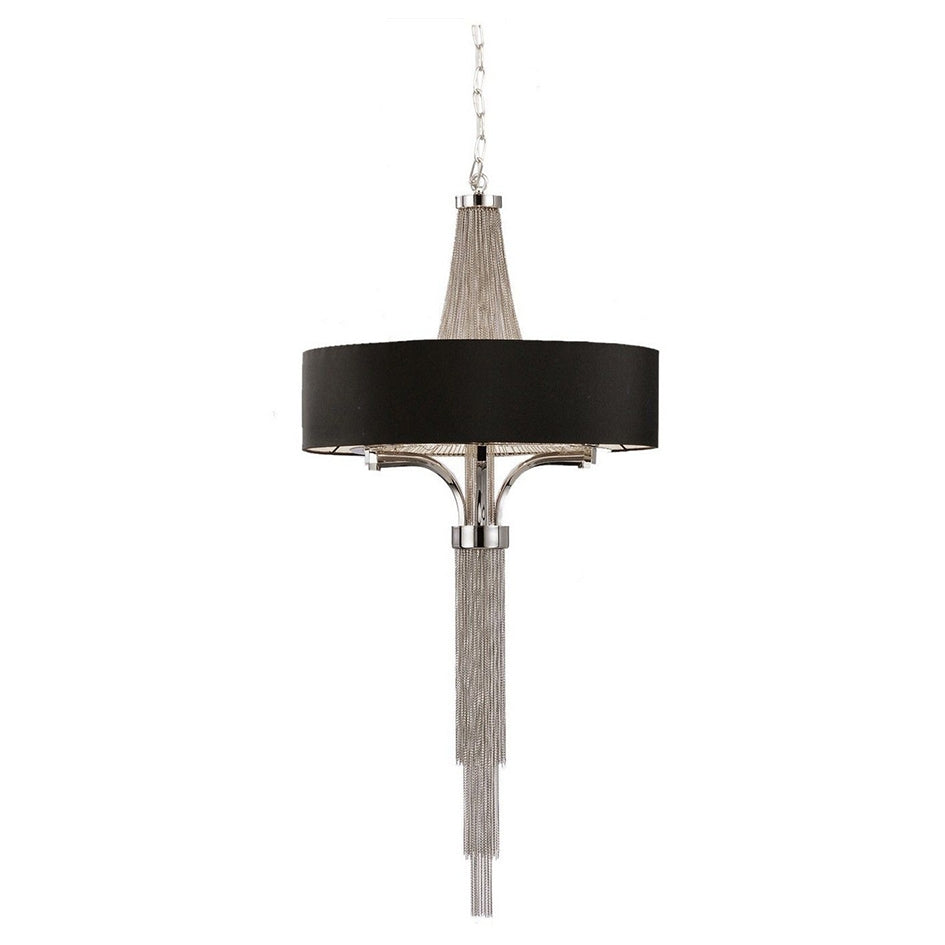 Small langan chandelier with black shade
