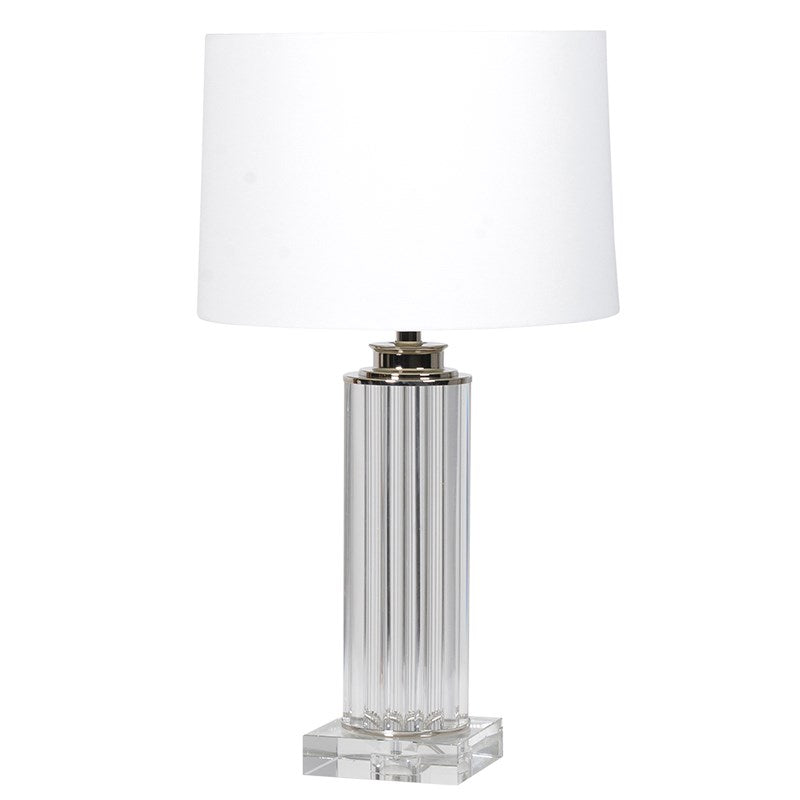 Acrylic Pillar Lamp With Shade