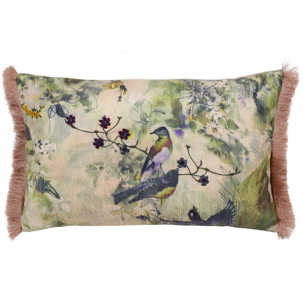 Vintage Birds Cushion Cover