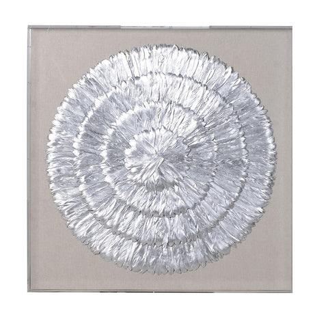 Silver Feathers Wall Art