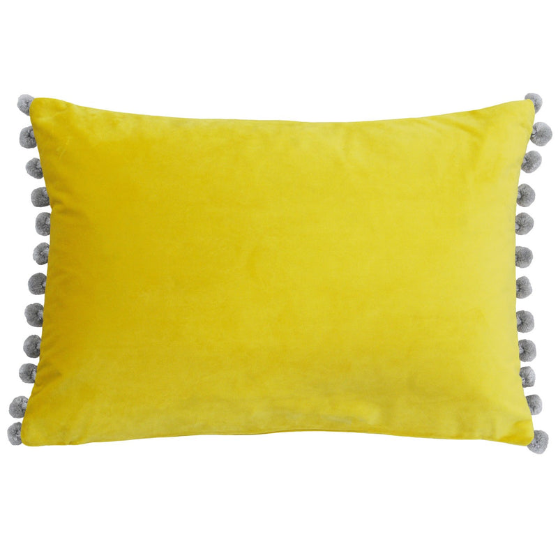 Mimosa and SilverPom Pom Cushion Cover