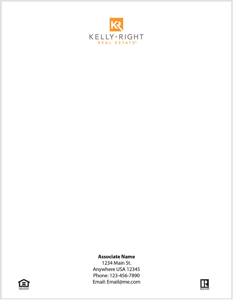 Kelly Right Letterhead - Personallized