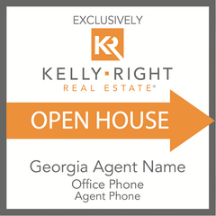 Kelly Right Open House Sign - Georgia