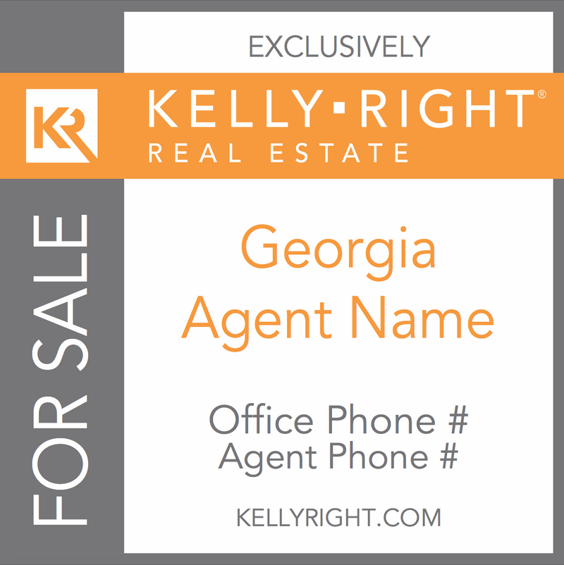 Kelly Right For Sale Sign - Georgia (Custom)