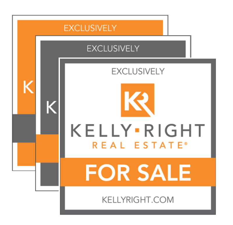 KR For Sale Sign: Orange, Grey or White