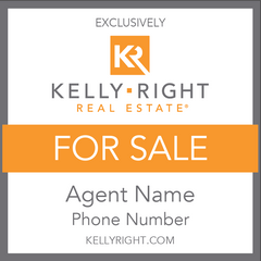 Kelly Right Standard For Sale Sign (Custom)