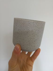 5 x 95mm & 5 x 130mm grey sand finish pots