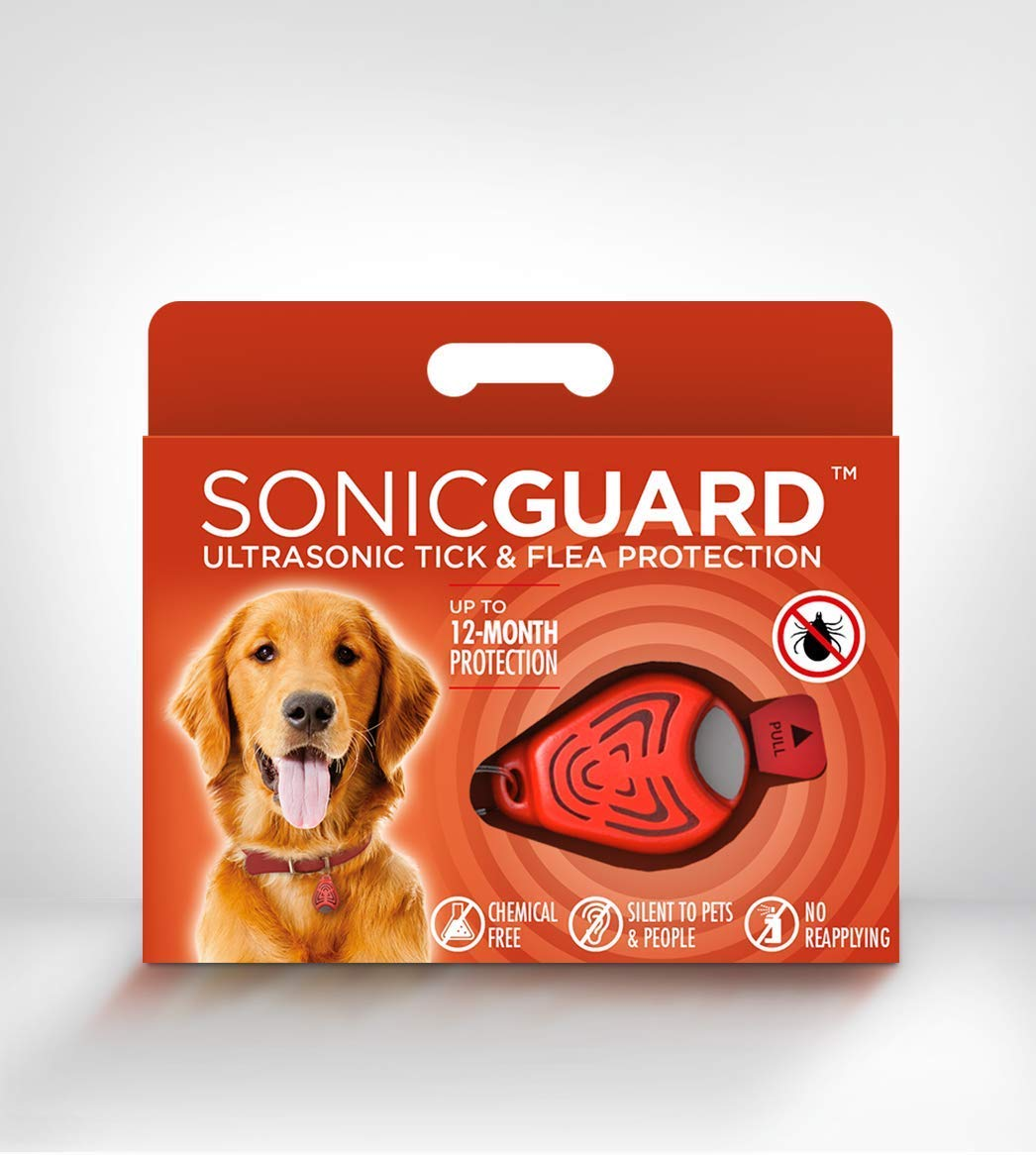 SonicGuard Classic Pet Chemical-Free Tick and Flea Repeller for all sizes of Dogs