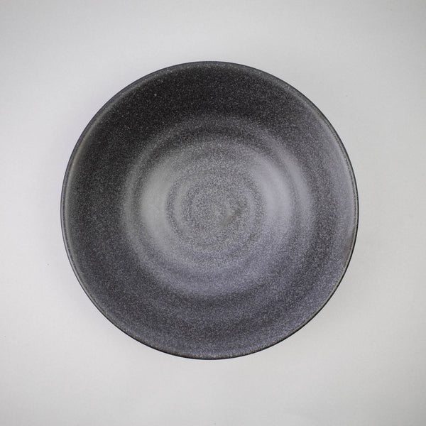 Matte Black 23cm Shallow Bowl