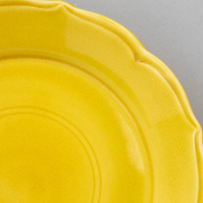Yellow D18.5cm Flower Plate