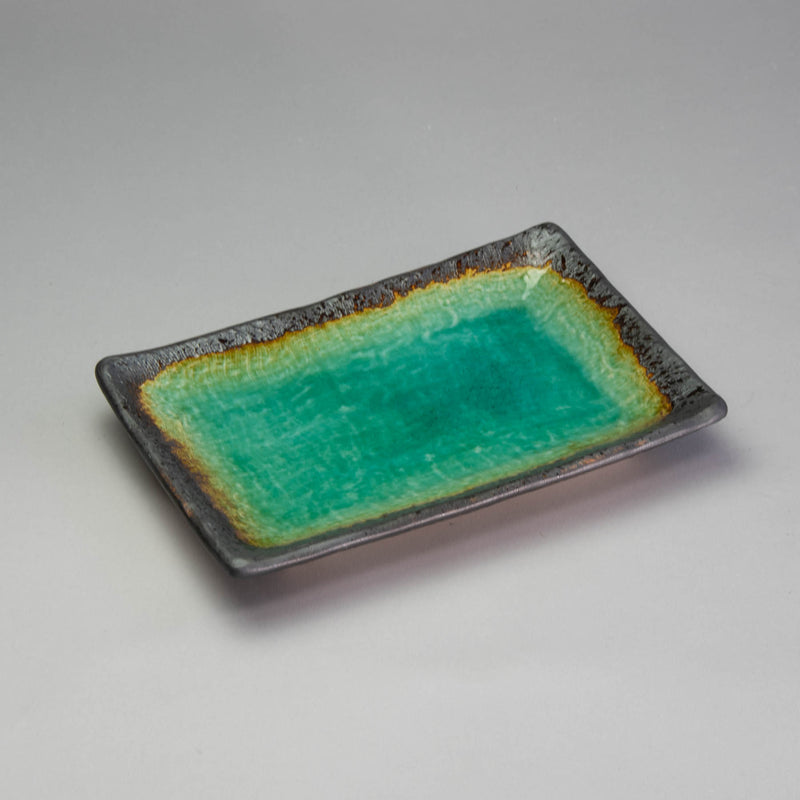 Peacock Green 21x14cm Rectangle Plate