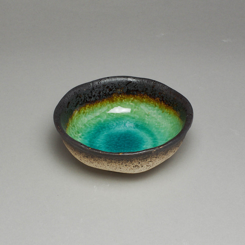 Peacock Green D12.5cm Round Bowl