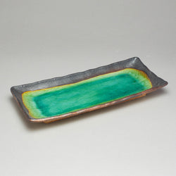 Peacock Green 28.5x12.5cm Rectangle Plate