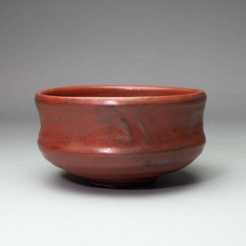 KEIZAN KILN Iron Red Matcha Bowl