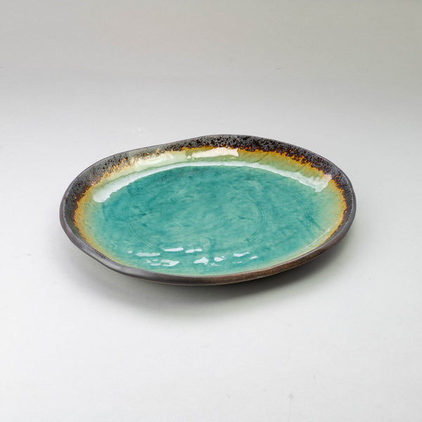 Peacock Green 26.2x22.2cm Oval Plate