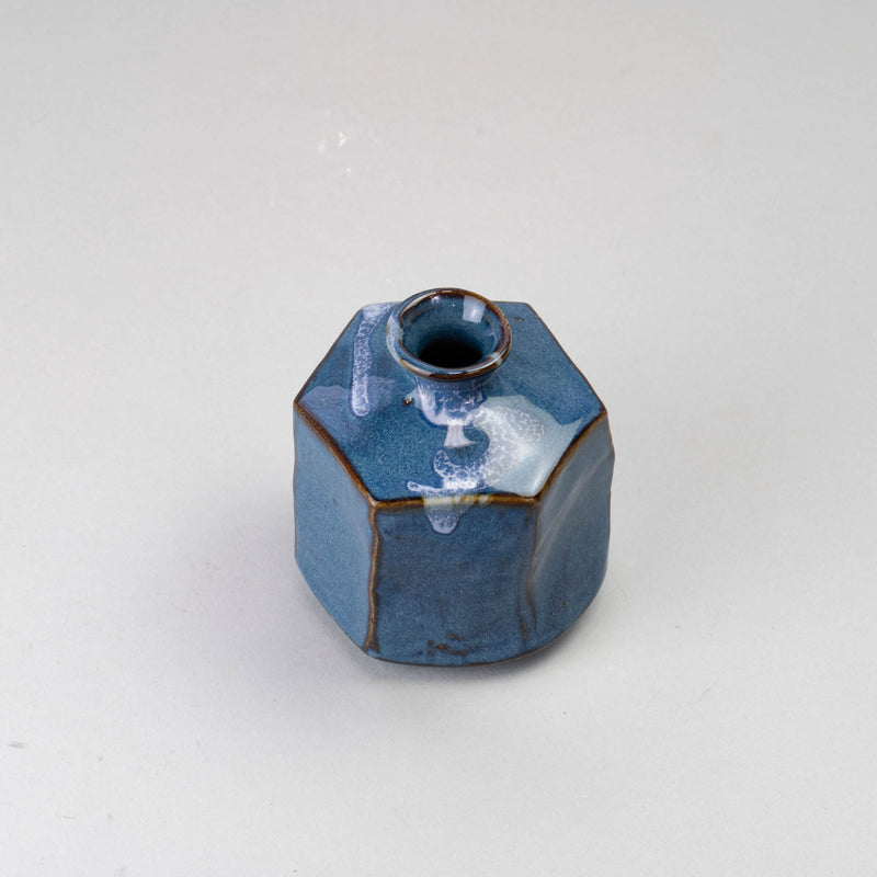 NAMAKO Blue Hexagon Vase