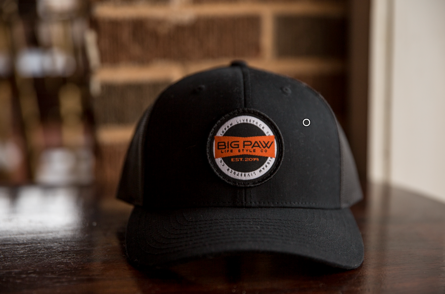 Solid Black Classic Trucker Patch Cap
