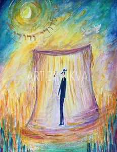 Ani Ledodi jewish wedding painting judaica chupah painting wedding ceremony