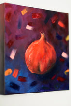 Load image into Gallery viewer, Rimonin Trio Original oil paintings. Rimon pomegranate painting . jewish. judaica. judaica art. jerusalem painting. jewish art. judaica art. israel