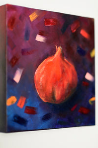 Rimonin Trio Original oil paintings. Rimon pomegranate painting . jewish. judaica. judaica art. jerusalem painting. jewish art. judaica art. israel