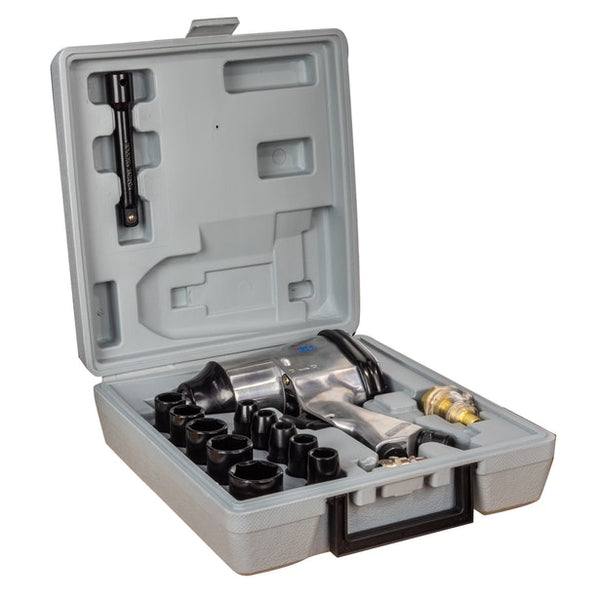 17pc 1/2in Air Impact Wrench Kit