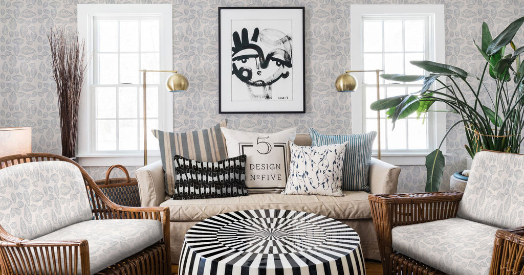 Oyster Wallpaper, Coastal Inspired and Hand-sketched pattern, beach house decor ready.