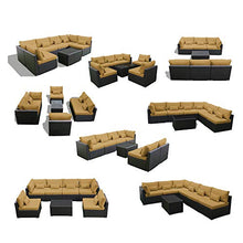 Load image into Gallery viewer, Patio Furniture Brown  Sofa Set - Artificial Waterfalls