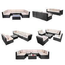 Load image into Gallery viewer, 7 Pieces Patio Sofa Set Outdoor - Artificial Waterfalls