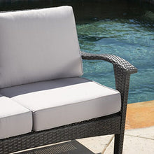 Load image into Gallery viewer, Voyage Outdoor 8pc Grey Wicker Seating Set - Artificial Waterfalls