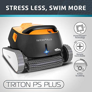 Dolphin Triton Plus Robotic Pool Cleaner with PowerStream and Bluetooth - Artificial Waterfalls