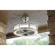 Load image into Gallery viewer, Home Decorators Collection Brette 23 in. LED Indoor/Outdoor Brushed Nickel Ceiling Fan - Artificial Waterfalls