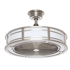 Home Decorators Collection Brette 23 in. LED Indoor/Outdoor Brushed Nickel Ceiling Fan - Artificial Waterfalls