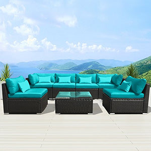 Patio Furniture Brown  Sofa Set - Artificial Waterfalls
