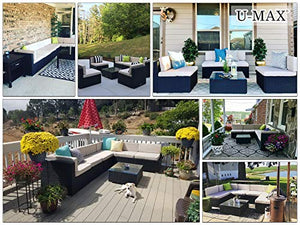 7 Pieces Patio Sofa Set Outdoor - Artificial Waterfalls