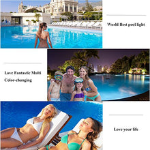 "Load image into Gallery viewer, Aliyeah Φ11.7"" LED RGB Underwater Swimming Pool Light 36W 12V AC/DC 304 Stainless Steel Color Changing Surface/Wall Mounted Waterproof IP68 Submersible Inground Pool Light with Remote (7 FT POWER CORD - Artificial Waterfalls"