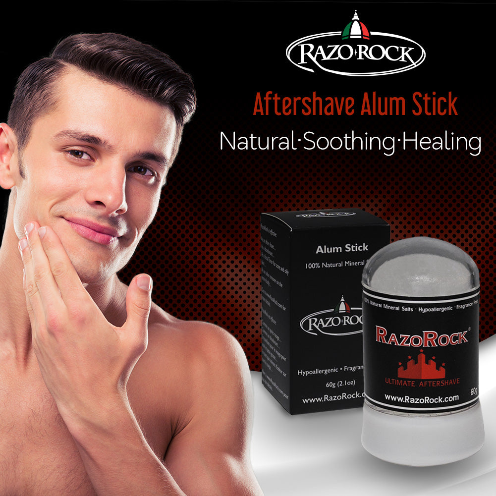 RazoRock Alum Stick - 60 g - After Shave Stick – Natural Healing and Toning