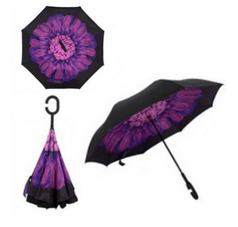 C-shaped Double Layer Reverse Umbrella - Cool Trends