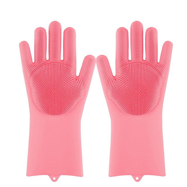 Magic Silicone Dishwashing Scrubber Gloves - Cool Trends