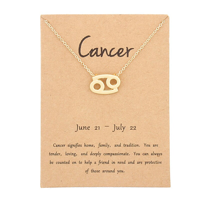 Zodiac Sign Necklace - Cool Trends