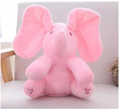 Peek-A-Boo Elephant Plush Toy - Cool Trends