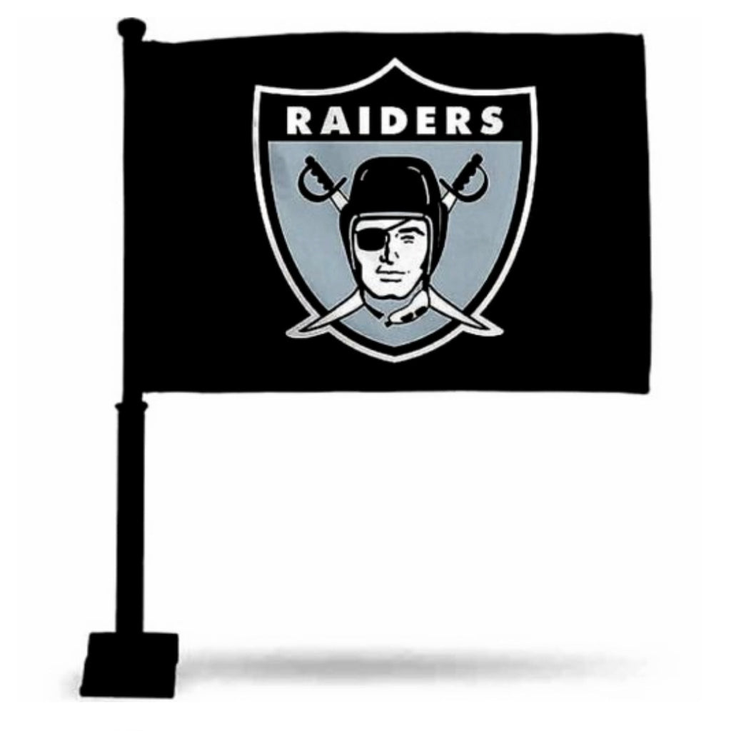 RAIDERS RETRO CAR FLAG-RaiderNationStore