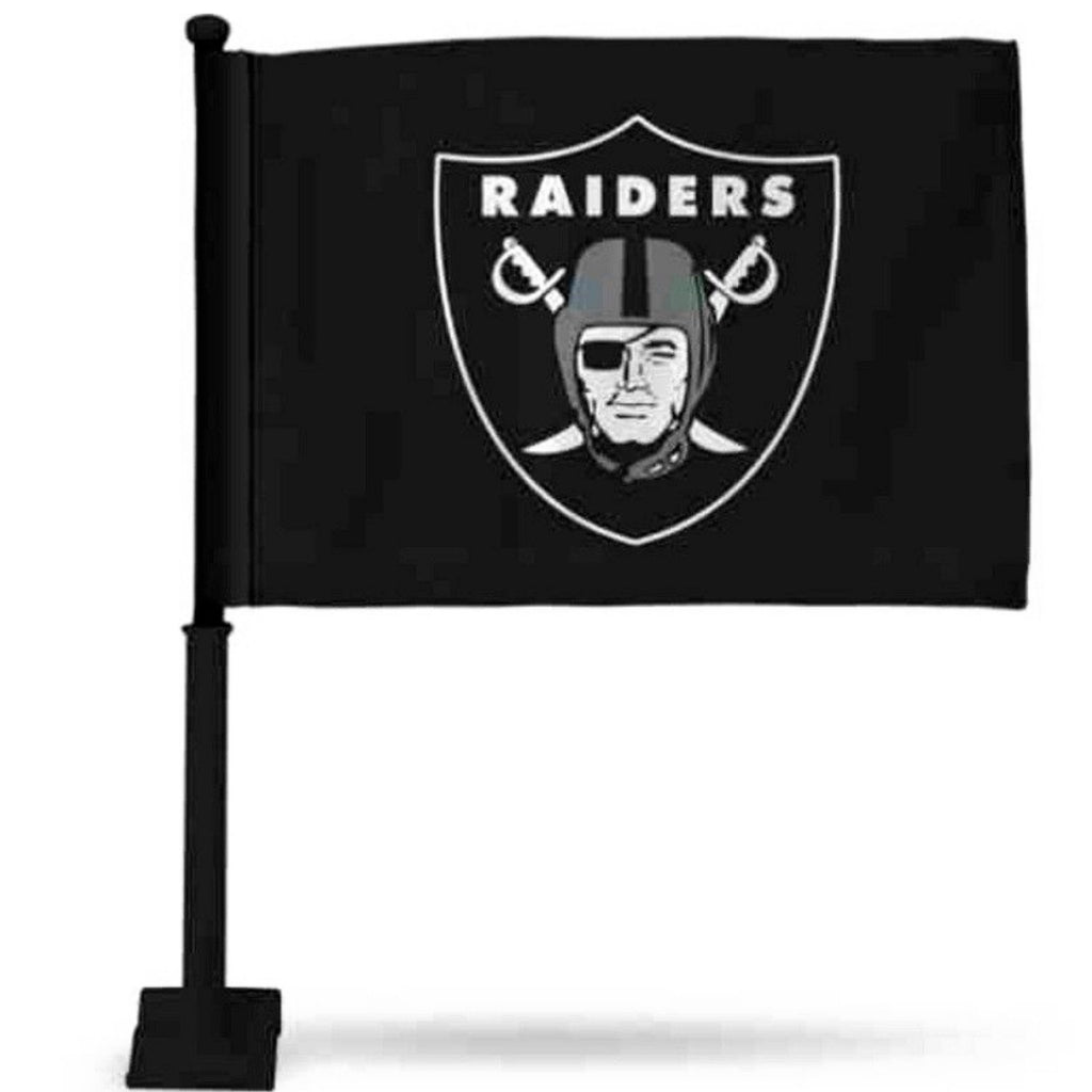 RAIDERS BLACK CAR FLAG-RaiderNationStore
